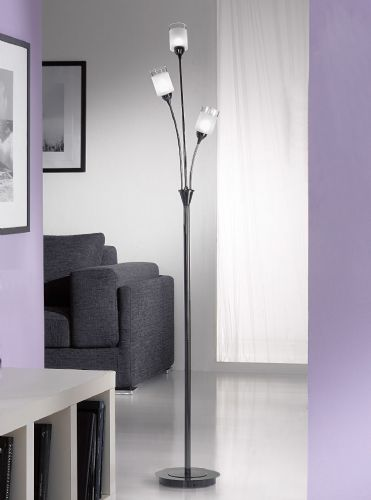 Franklite SL112 Black Chrome Floor Lamp (Class 2 Double Insulated)